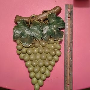 Vintage ceramic grapes wall hanging